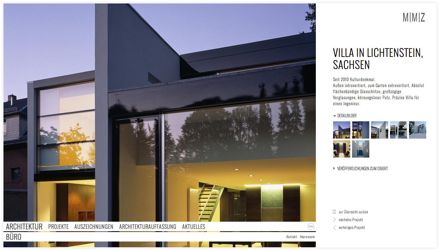 Architekten_Internetpräsenz_MMZ_Projektdetails