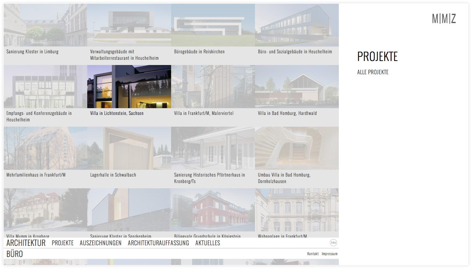 Architekten_Internetpräsenz_MMZ_Projektübersicht