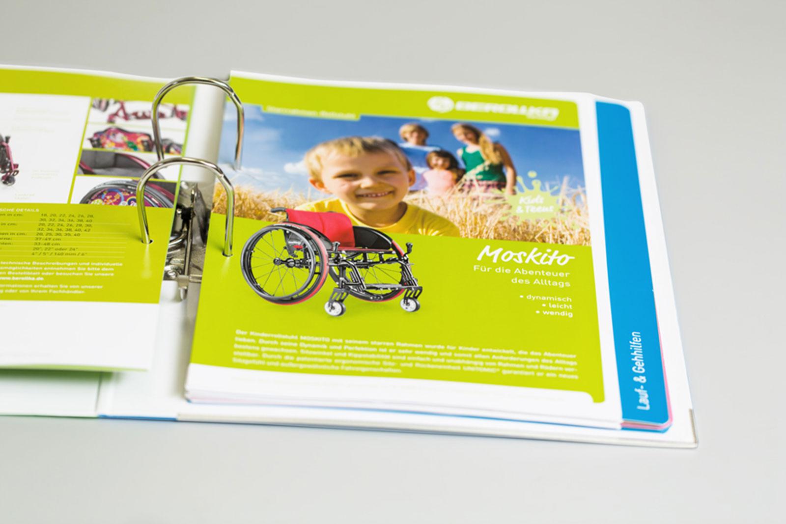 Markenentwicklung Rollstuhlhersteller Produktlinie Kinder