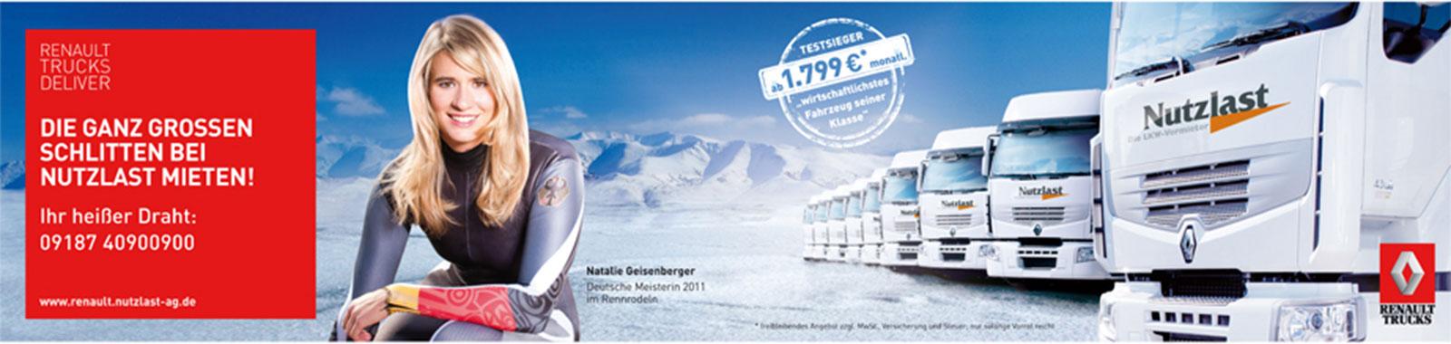 Sponsoring Kampagne Geisenberger
