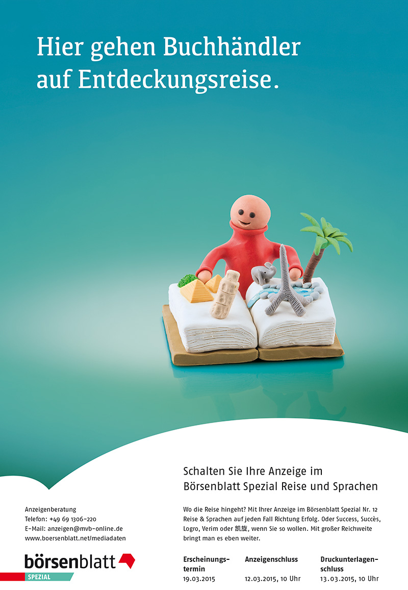 Anzeigenserie_Knetfiguren_Börsenblatt_Spezial_Reise