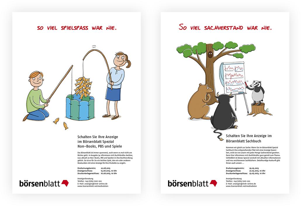 Illustration_Anzeigenserie_Börsenblatt_Spezial_Non-Books_Sachbuch