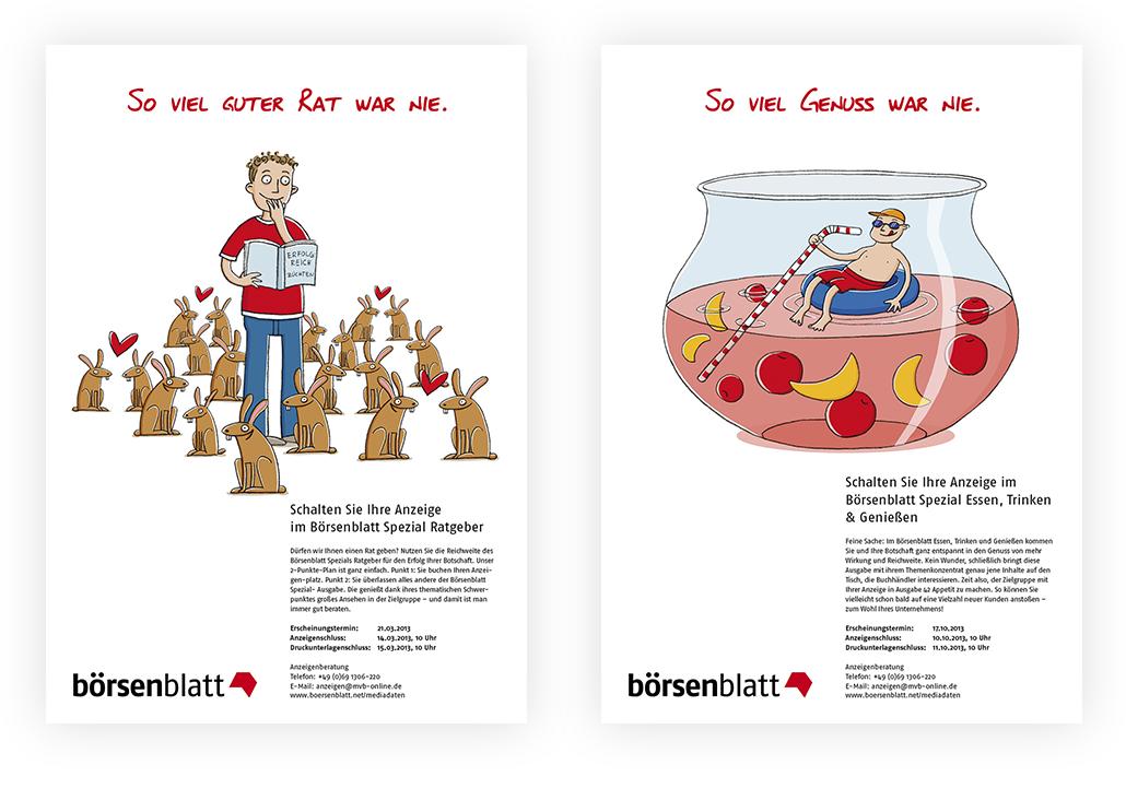 Illustration_Anzeigenserie_Börsenblatt_Spezial_Ratgeber_Essen