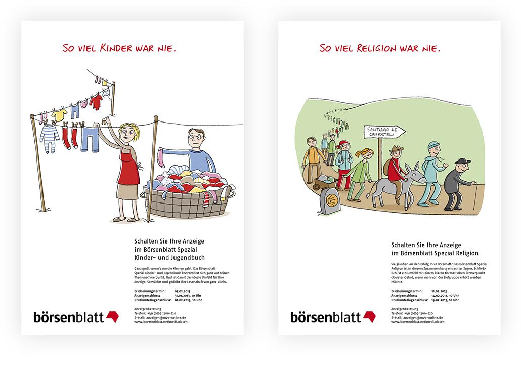 Illustration_Anzeigenserie_Börsenblatt_Spezial_Kinder_Religion
