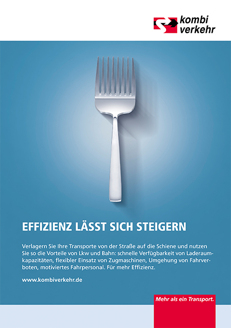 Anzeigen-Kampagne Logistik Motiv Effizienz