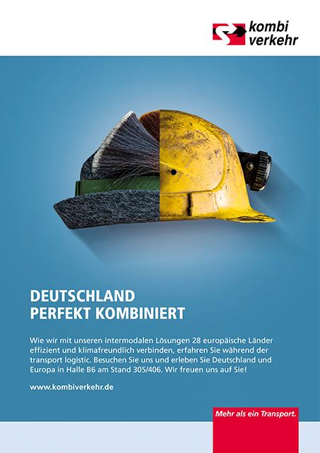 Anzeigen-Kampagne Logistik Motiv Kombiverkehr Bayern NRW