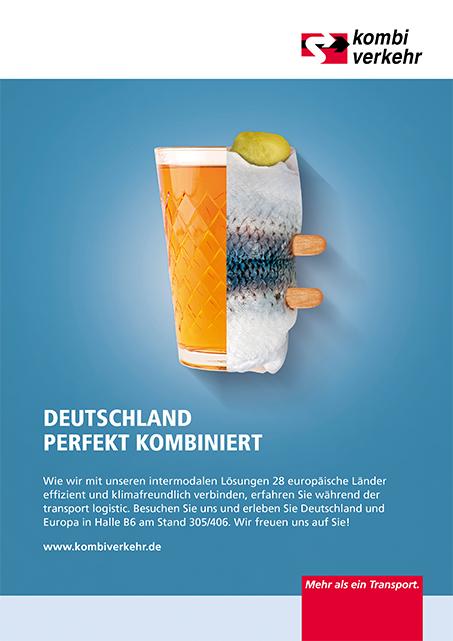 Anzeigen-Kampagne Logistik Motiv Kombiverkehr Hessen Hamburg
