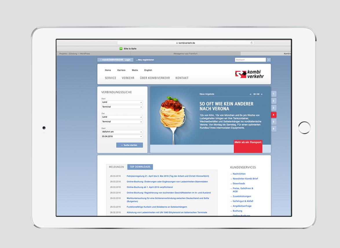 Anzeigen-Kampagne Logistik digitale Medien