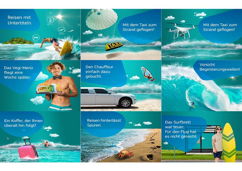 Instagram und Facebook Kampagne für Reisebüros
