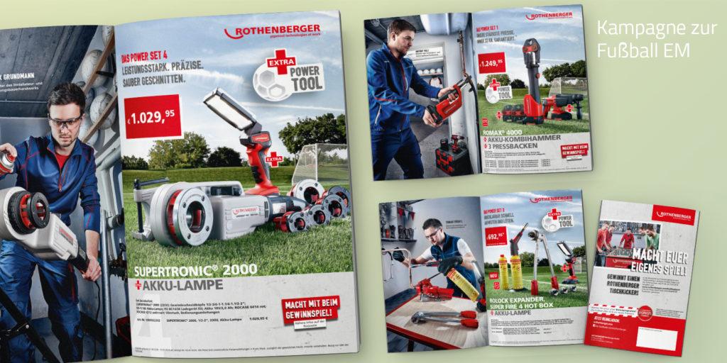 Kampagne für Rohrwerkzeuge Fußball EM